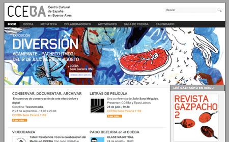 Sitio Centro Cultural de España en Buenos Aires